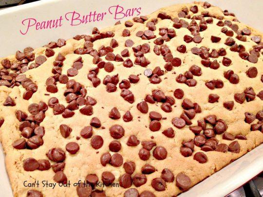 Peanut Butter Bars - IMG_4262