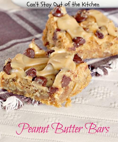 Peanut Butter Bars - IMG_9499