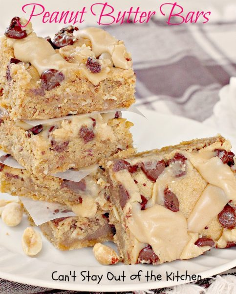 Peanut Butter Bars | Can't Stay Out of the Kitchen