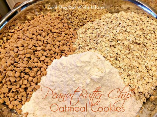 Peanut Butter Chip Oatmeal Cookies - IMG_2163