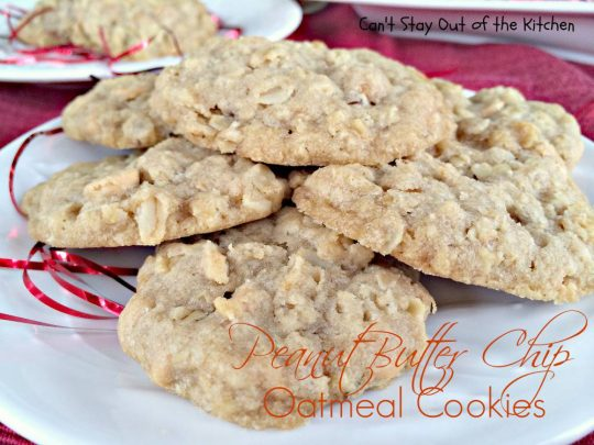 Peanut Butter Chip Oatmeal Cookies - IMG_2172