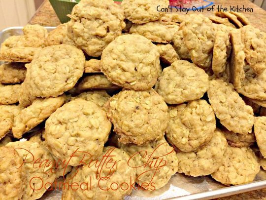 Peanut Butter Chip Oatmeal Cookies - IMG_2207