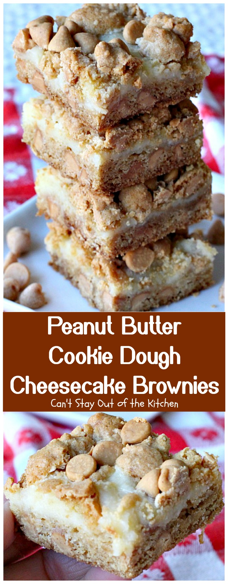 Peanut Butter Cookie Dough Cheesecake Brownies Can T