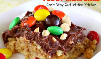 Peanut Butter Fudgy M&M Bars