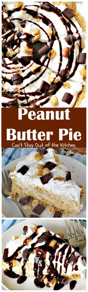 Peanut Butter Pie | Can't Stay Out of the Kitchen
