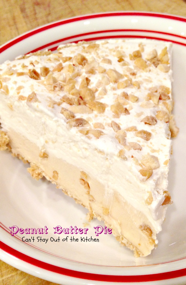 Peanut Butter Pie - Can't Stay Out of the Kitchen