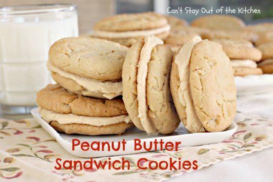 Peanut Butter Sandwich Cookies - IMG_9435