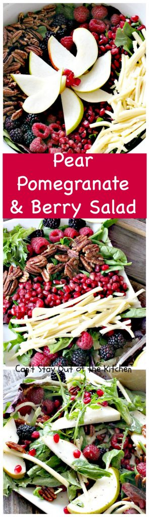 Pear, Pomegranate and Berry Salad | Can't Stay Out of the Kitchen