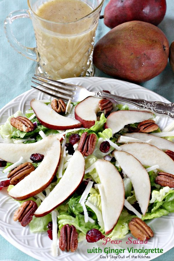Pear Salad with Ginger Vinaigrette | Can't Stay Out of the Kitchen