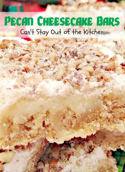 Pecan Cheesecake Bars Can T Stay Out Of The Kitchen