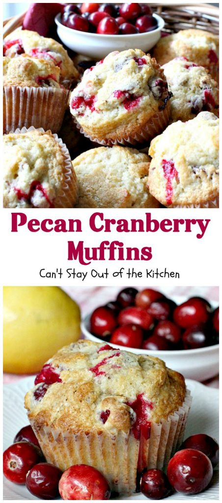 Pecan Cranberry Muffins | Can't Stay Out of the Kitchen