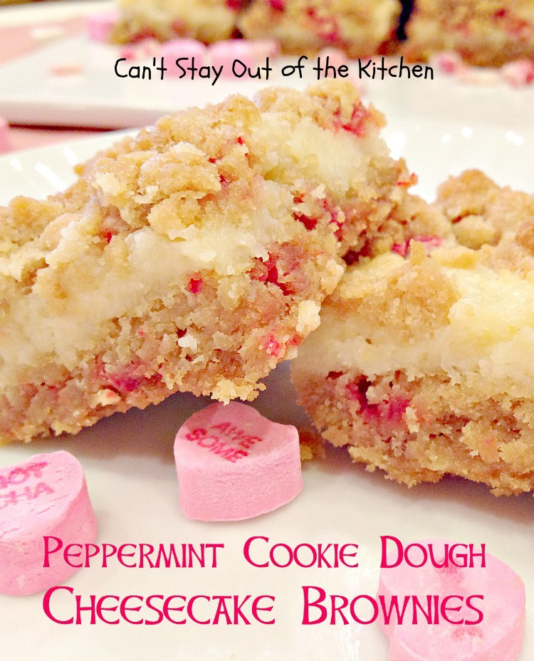 Peppermint Crunch Gooey Squares - Can't Stay Out of the Kitchen
