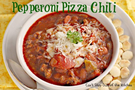 Pepperoni Pizza Chili - IMG_1519