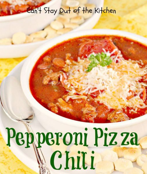 Pepperoni Pizza Chili - IMG_1528