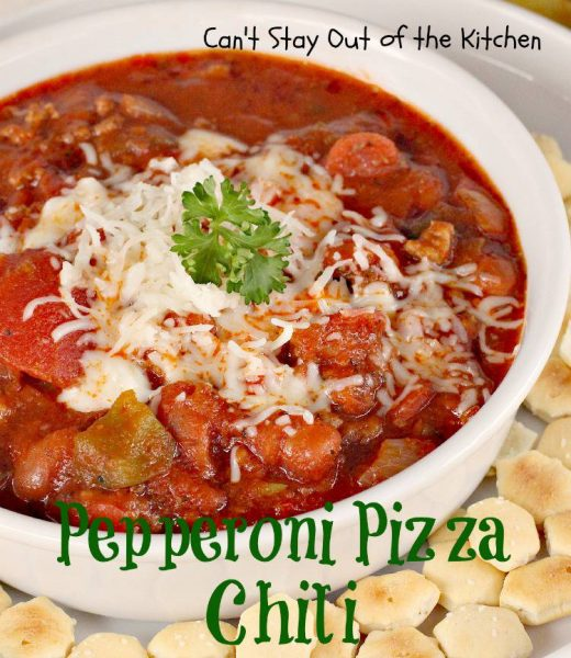 Pepperoni Pizza Chili - IMG_1529