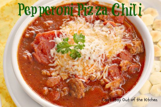 Pepperoni Pizza Chili - IMG_1532