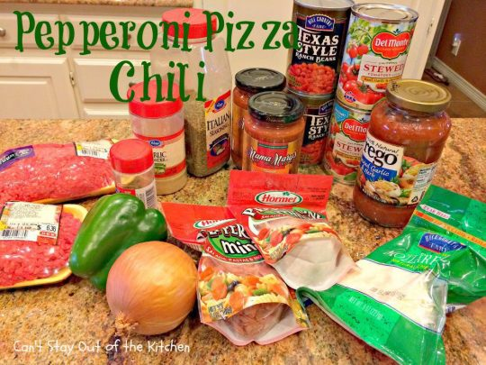 Pepperoni Pizza Chili - IMG_5841