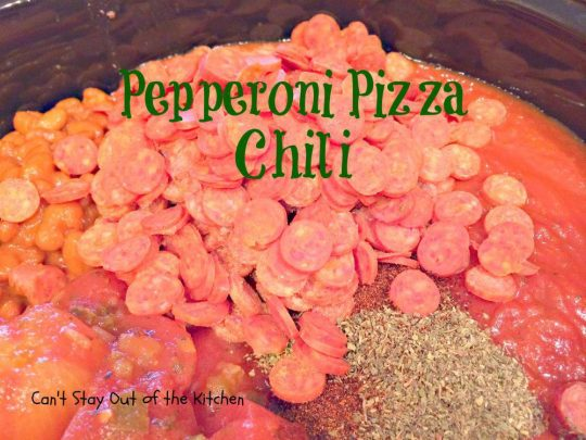 Pepperoni Pizza Chili - IMG_5844