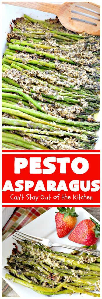 Pesto Asparagus | Can't Stay Out of the Kitchen