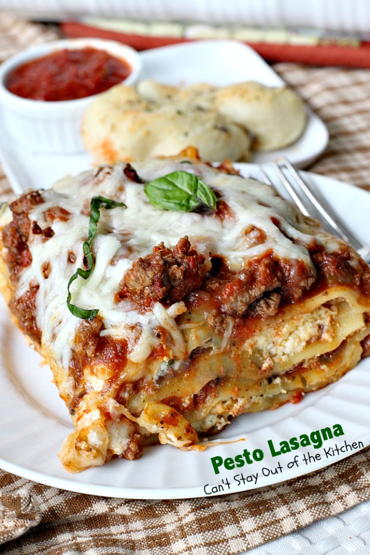 Pesto Lasagna | Can't Stay Out of the Kitchen