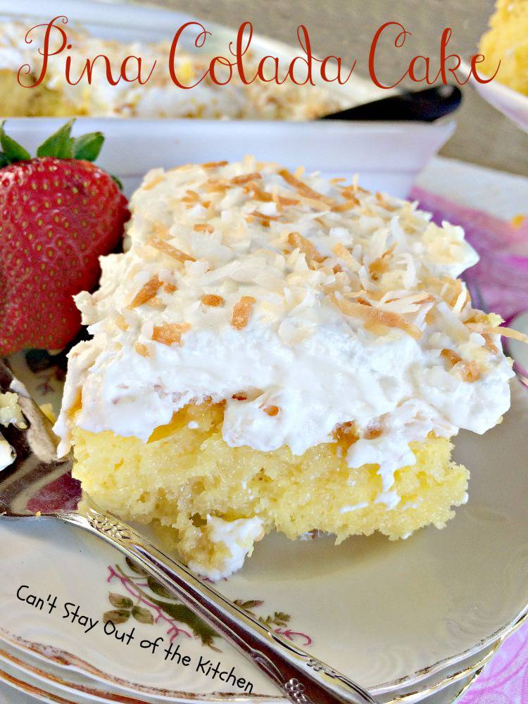 You will enjoy every mouthful of Pina Colada Cake.