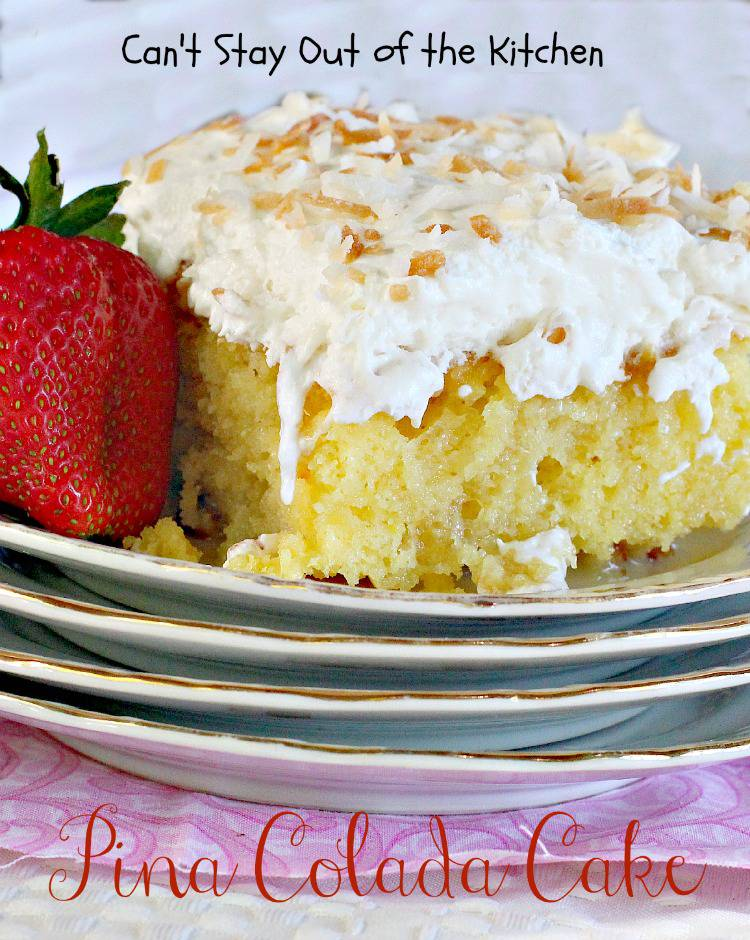 Pina Colada Cake is loaded with coconut flavor and taste. Because ...