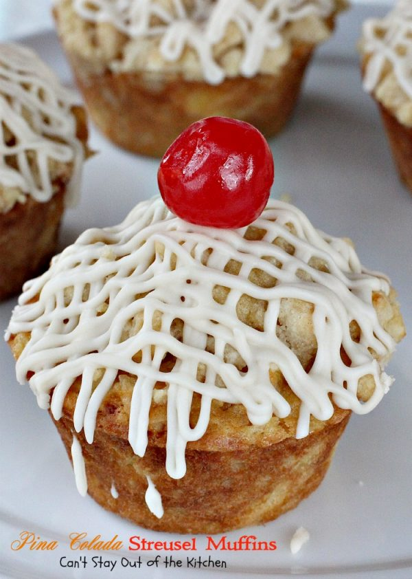 Pina Colada Streusel Muffins | Can't Stay Out of the Kitchen | these outrageous #muffins are filled with #pineapple #coconut and #Greekyogurt and #macadamianuts. #breakfast