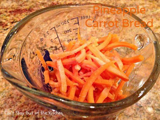 Pineapple Carrot Bread - IMG_0119