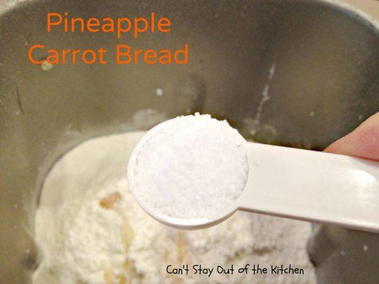 Pineapple Carrot Bread - IMG_0125