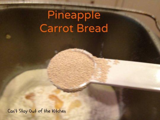 Pineapple Carrot Bread - IMG_0126