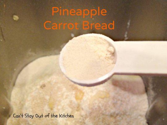 Pineapple Carrot Bread - IMG_0128