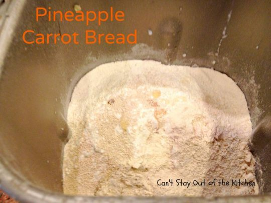 Pineapple Carrot Bread - IMG_0129
