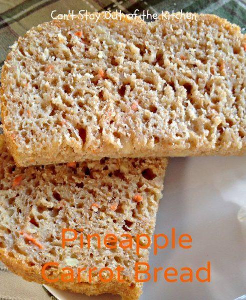 Pineapple Carrot Bread - IMG_0190