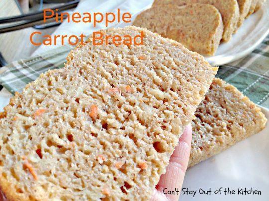 Pineapple Carrot Bread - IMG_0212