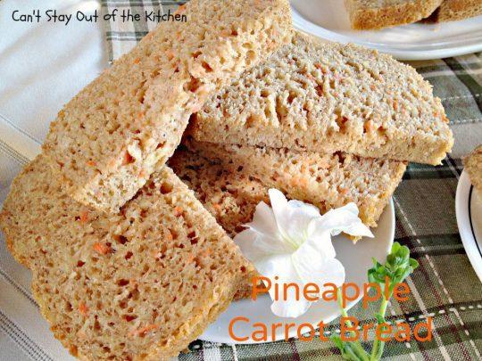Pineapple Carrot Bread - IMG_0236