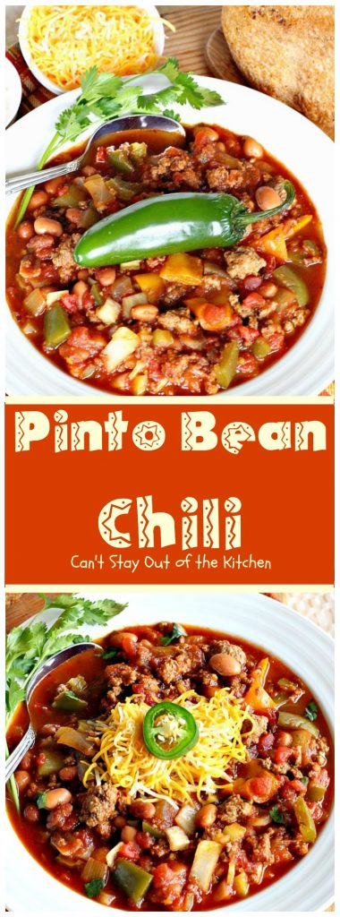 Pinto Bean Chili | Can't Stay Out of the Kitchen
