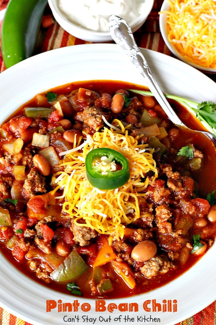 Pinto Bean Chili Can T Stay Out Of The Kitchen
