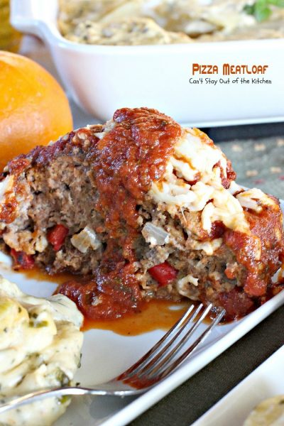 Pizza Meatloaf | Can't Stay Out of the Kitchen