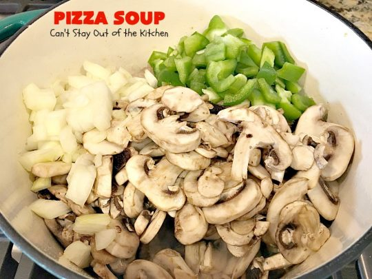 Pizza Soup | Can't Stay Out of the Kitchen | this easy 30-minute #soup is like eating your favorite #pepperoni or Italian #sausage #pizza but in soup form! It's absolutely terrific. #glutenfreePizza Soup | Can't Stay Out of the Kitchen | this amazing #soup is like eating your favorite #pepperoni or Italian #sausage #pizza but in soup form! It's absolutely terrific. #glutenfree