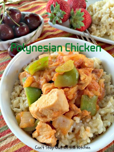 Polynesian Chicken has a tasty sauce that includes bell pepper and ...