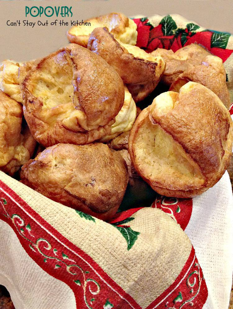 Popovers | Can't Stay Out of the Kitchen | elegant dinner #roll that's great for #thanksgiving and #holiday menus. #bread #dinnerroll