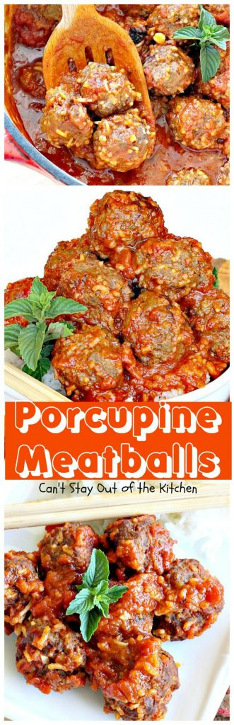 Porcupine Meatballs | Can't Stay Out of the Kitchen