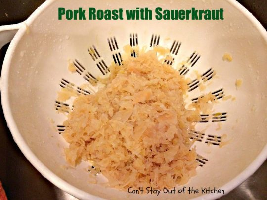 Pork Roast with Sauerkraut - IMG_4291