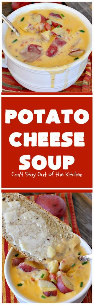 Potato Cheese Soup   Can't Stay Out of the Kitchen