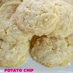 Potato Chip Cookies | Can't Stay Out of the Kitchen | these amazing 5-ingredient #cookies are divine! We make them every year at #Christmas time and everyone loves them. All are amazed that they have #PotatoChips in the batter! Mouthwatering & so delicious. #holiday #HolidayBaking #HolidayDessert #ChristmasCookieExchange #dessert #PotatoChipCookies