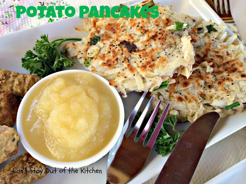 Potato Pancakes With Applesauce Potato Pancakes Img 1562