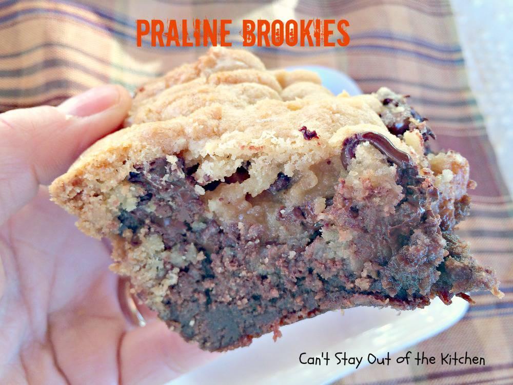 Praline Brookies Recipe — Dishmaps