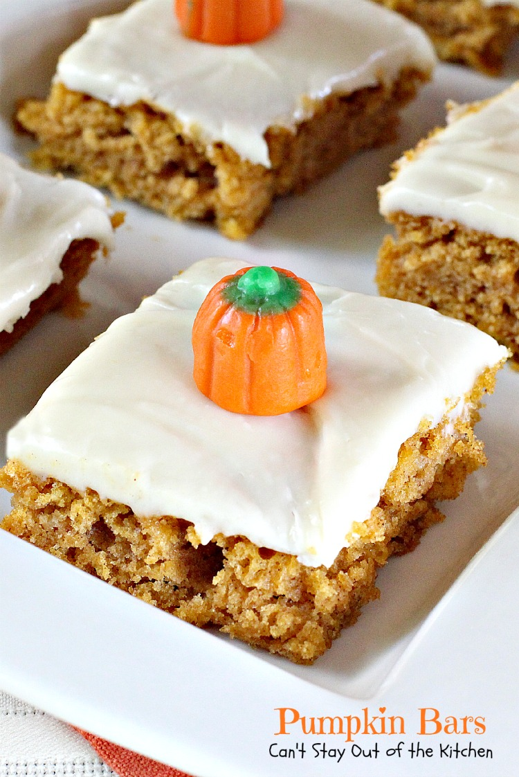 Pumpkin Bars | Can't Stay Out of the Kitchen