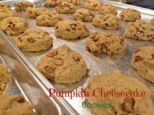 Pumpkin Cheesecake Cookies - IMG_2870