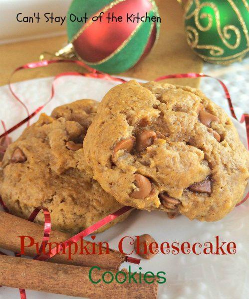 Pumpkin Cheesecake Cookies - IMG_2876